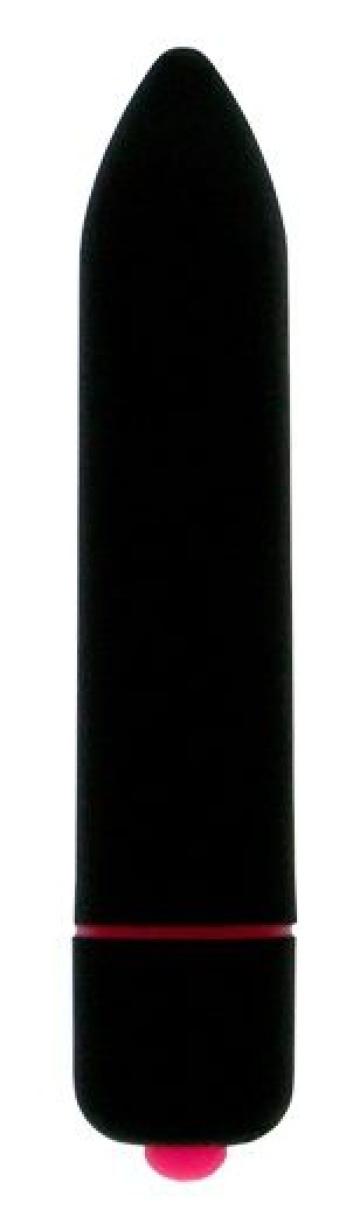 Черная вибропуля CLIMAX BULLET - 8,5 см.