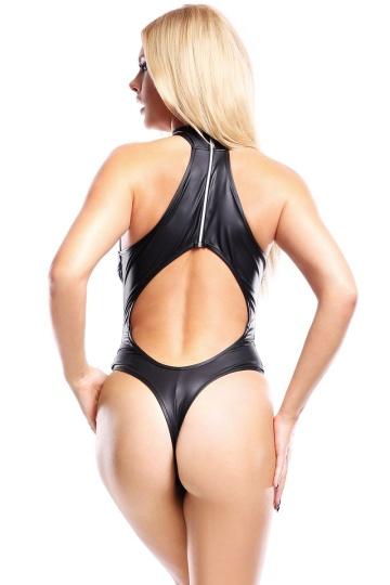 Сексапильное боди Keto с сетчатыми вставками и вырезом на спинке