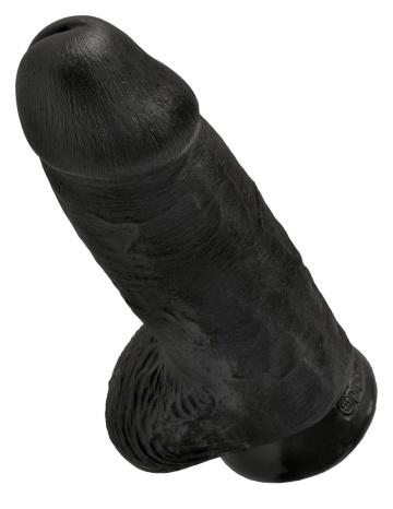 Черный фаллоимитатор на присоске Chubby - 22,9 см.