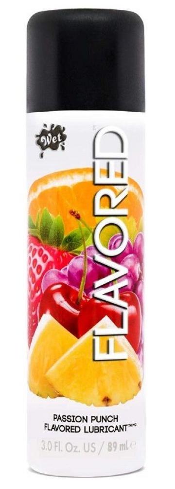 Лубрикант Wet Flavored Passion Punch с ароматом фруктов - 89 мл.