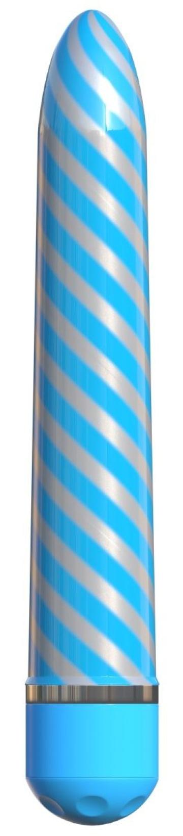 Голубой вибратор Sweet Swirl Vibrator - 21,3 см.