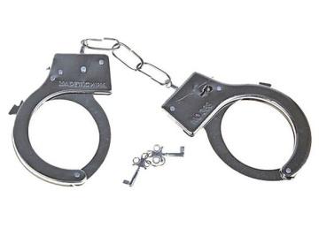 Металлические наручники с регулируемыми браслетами