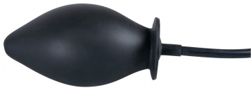 Черная надувная анальная пробка True Black - 11,5 см.