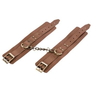 Коричневые кожаные наручники Maya