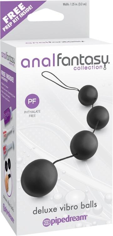 Анальная цепочка из 4 шариков Deluxe Vibro Balls