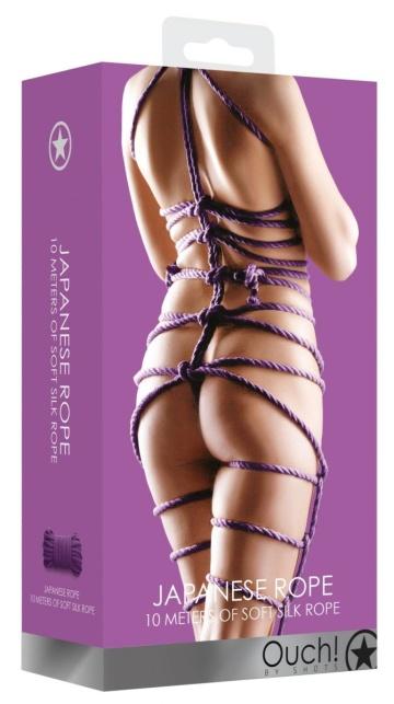 Фиолетовая веревка для бондажа Japanese Rope - 10 м.