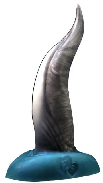 "Черно-голубой фаллоимитатор ""Дельфин small"" - 25 см."