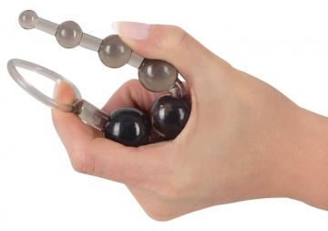 Дымчатая анальная цепочка Anal Beads - 20,5 см.