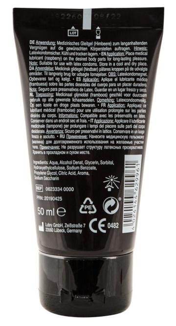 Съедобная смазка Lick It с ароматом малины - 50 мл.