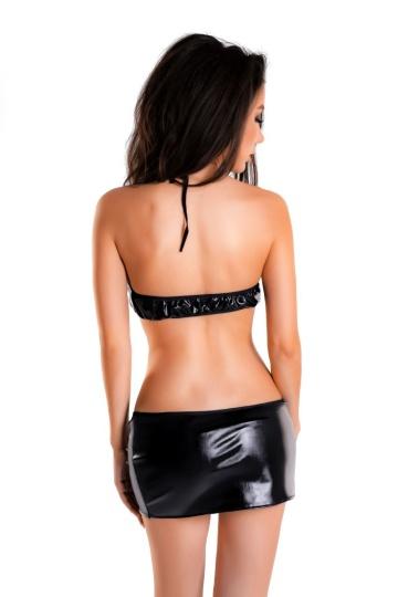Сексуальный комплект Brianna из материала с мокрым блеском