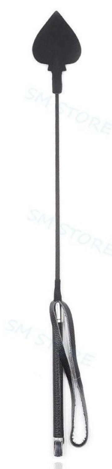 Черный стек с наконечником в виде пики - 50 см.
