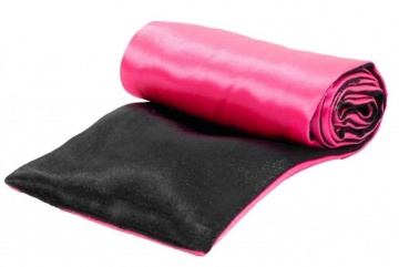 Черно-розовая атласная лента для связывания - 1,4 м.