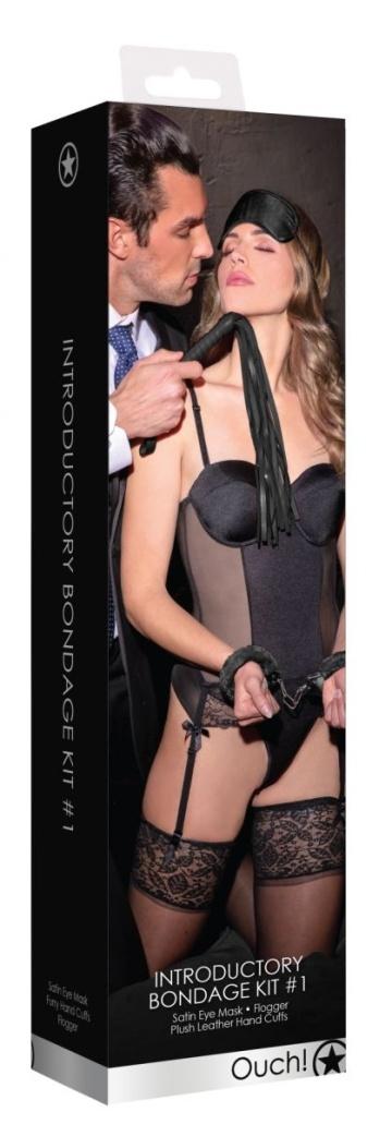 Черный набор для бондажа Introductory Bondage Kit №1