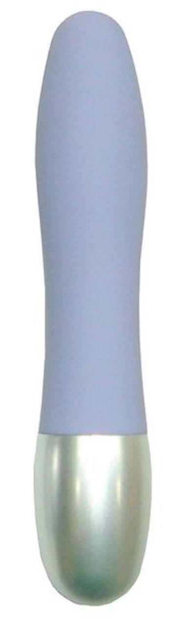 Сиреневый миниатюрный вибратор DISCRETION - 8 см.