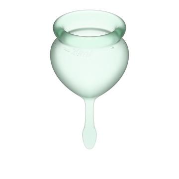 Набор зеленых менструальных чаш Feel good Menstrual Cup