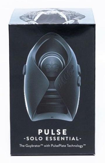 Черный инновационный мужской вибратор PULSE SOLO ESSENTIAL