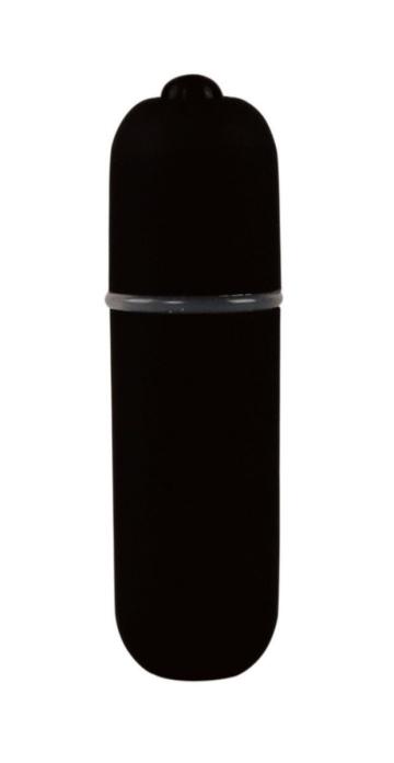 Черная вибропуля Power Bullet - 6,2 см.