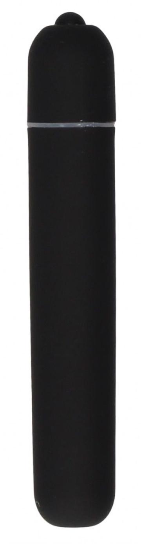 Черная вибропуля Bullet Vibrator Extra Long - 10,5 см.