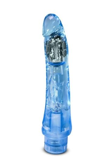 Голубой вибратор-реалистик Mambo Vibe - 22,8 см.