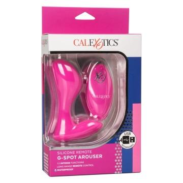 Розовый массажер G-точки Remote G Spot Arouser - 10,75 см.