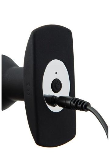 Черный анальный вибромассажер WIRELESS REMOTE PLUG - 13 см.