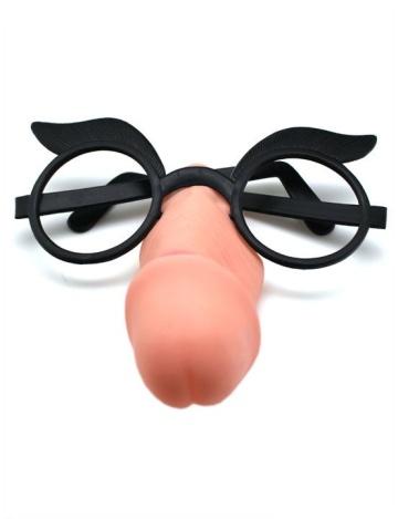 Пластиковые очки с шалуном вместо носа