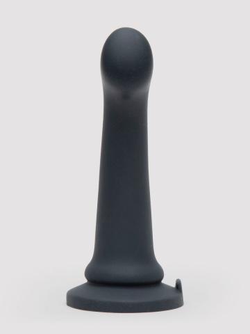 Черный фаллоимитатор Feel It Baby Silicone G-Spot Dildo - 17,8 см.