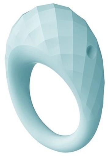 Голубое эрекционное виброкольцо ZELIE
