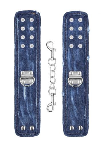 Синие джинсовые наручники Roughend Denim Style