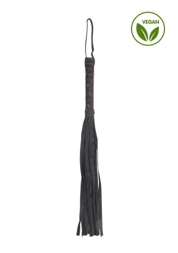 Черная многохвостая джинсовая плеть Roughend Denim Style - 57 см.