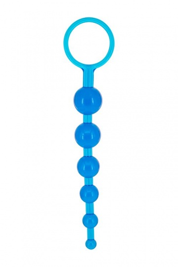 Синяя анальная цепочка DRAGONZ TALE ANAL - 20 см.
