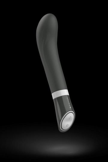 Черный G-стимулятор с вибрацией Bgood Deluxe Curve - 19,3 см.