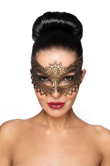 """Золотистая карнавальная маска """"Фейт"""""""