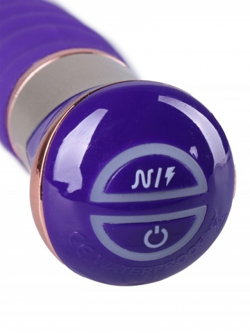 Фиолетовый спиралевидный вибратор - 21 см.