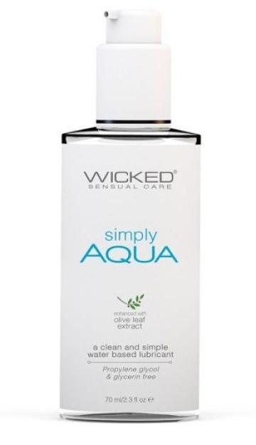Легкий лубрикант на водной основе Wicked Simply AQUA - 70 мл.