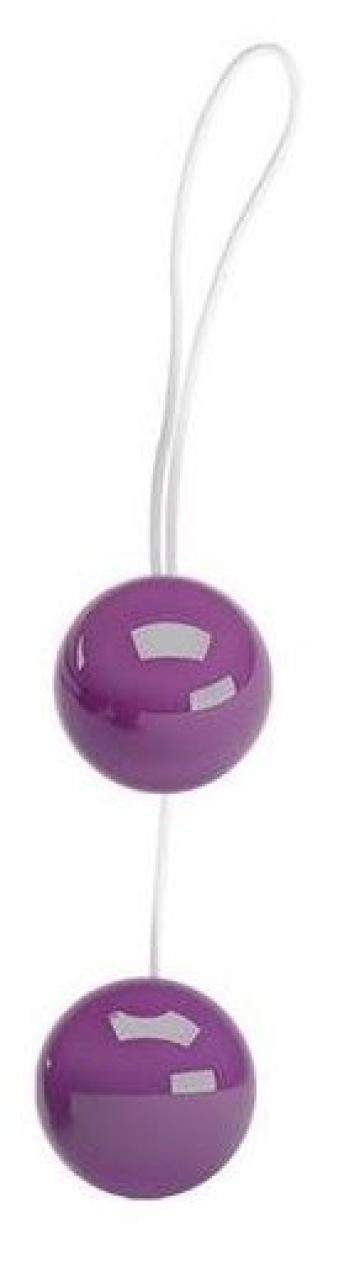 Фиолетовые вагинальные шарики Twins Ball