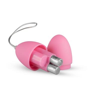 Розовое виброяйцо Vibrating Egg с пультом ДУ