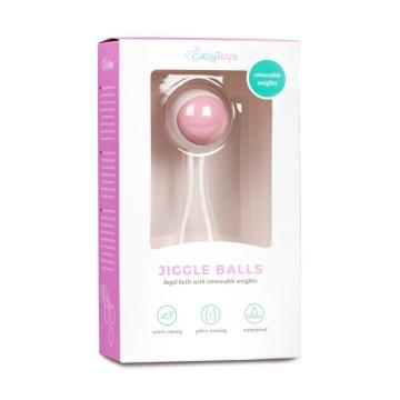 Вагинальный шарик Jiggle Balls с петлёй