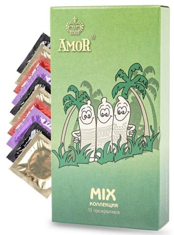 """Микс-набор презервативов AMOR Mix """"Яркая линия"""" - 10 шт."""