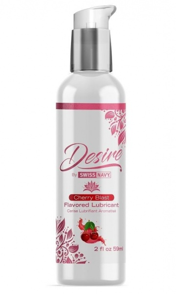 Женская смазка на водной основе с ароматом вишни Desire Flavored Lubricant Cherry Blast - 59 мл.