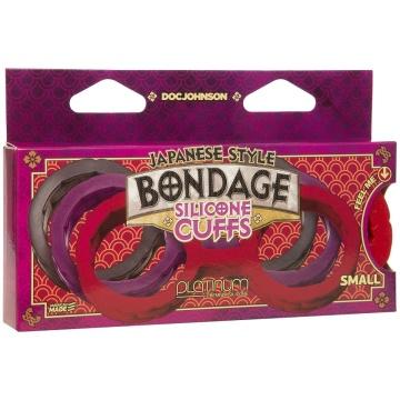 Красные силиконовые наручники Style Bondage Silicone Cuffs Small