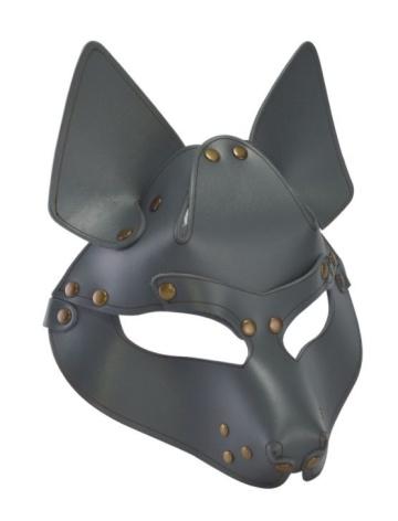 Серая маска Wolf с клепками
