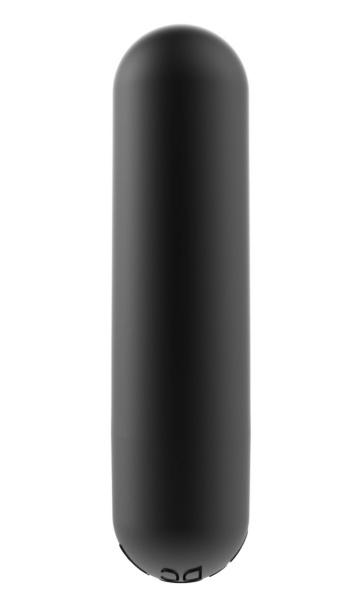 Черная перезаряжаемая вибропуля Clio - 7,6 см.