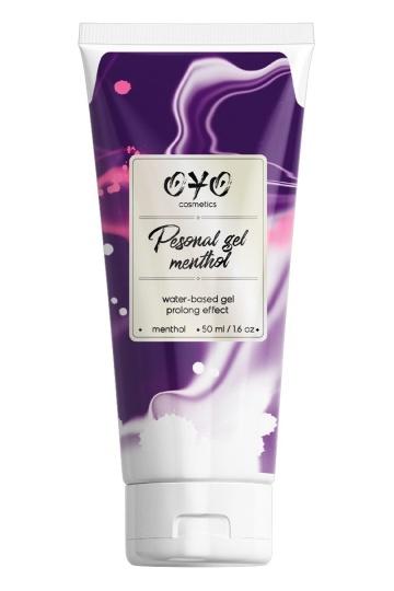 Интимная смазка на водной основе с пролонгирующим эффектом OYO Personal Gel Menthol - 50 мл.