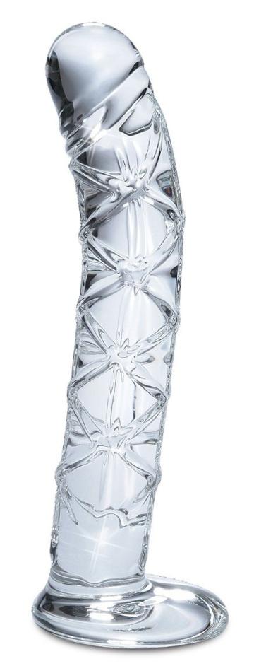 Прозрачный стеклянный стимулятор Icicles № 60 - 15 см.