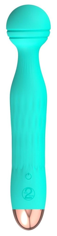 Зеленый мини-вибратор Cuties 2.0 - 17,2 см.