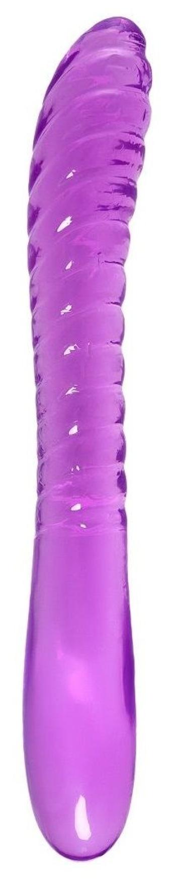 Фиолетовый двусторонний фаллоимитатор Frica - 23 см.