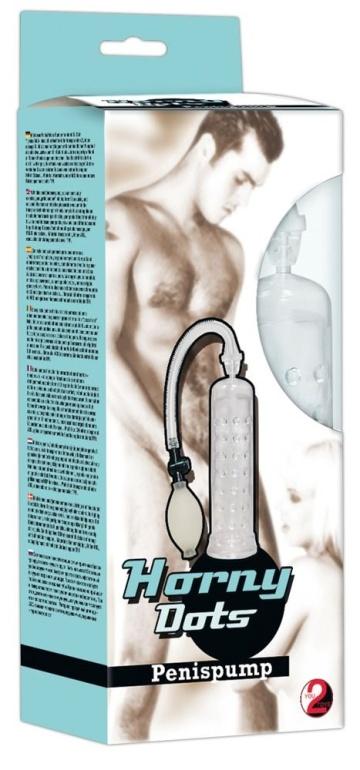 Прозрачная вакуумная помпа с грушей - 19,5 см.