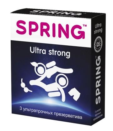 Ультрапрочные презервативы SPRING ULTRA STRONG - 3 шт.