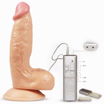 Реалистичный вибратор с выносным пультом Enduro Blaster - 19 см.